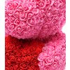 medved z ruzi ruzovy s cervenym srdcem 25 cm 3
