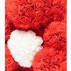 medved z ruzi cerveny s bilym srdcem 25 cm 3
