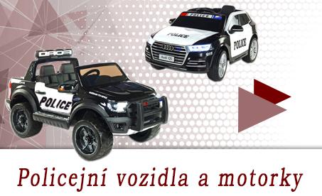 Policejní vozidla a motorky