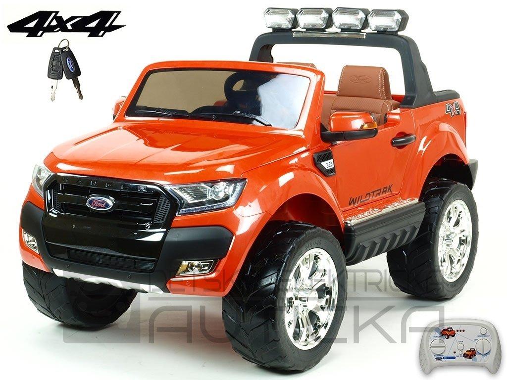 121 6 elektricke auticko ford ranger wildtrak 4x4 lux s 2 4g fm usb oranzova barva