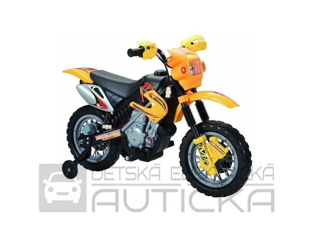 1293 9 elektricka motorka crosska 6v zluta barva