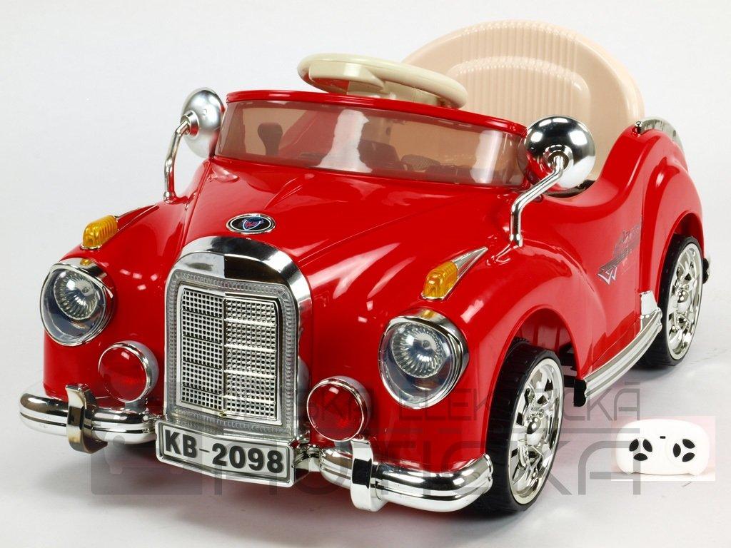 350 18 elektricke auticko kuba retro mini s dalkovym ovladanim cervene