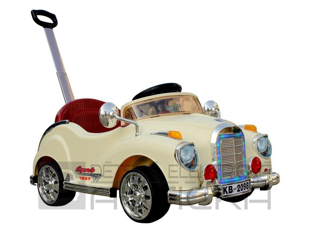 395 16 elektricke auticko retro s dalkovym ovladanim nebo jizda tlacenim vodici ridici tyci s vypinanim motoru 6v bezove