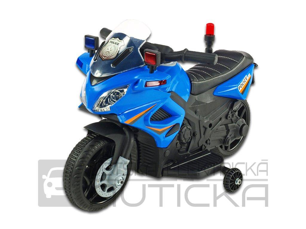 Moto mini Polic 911 modrá 1