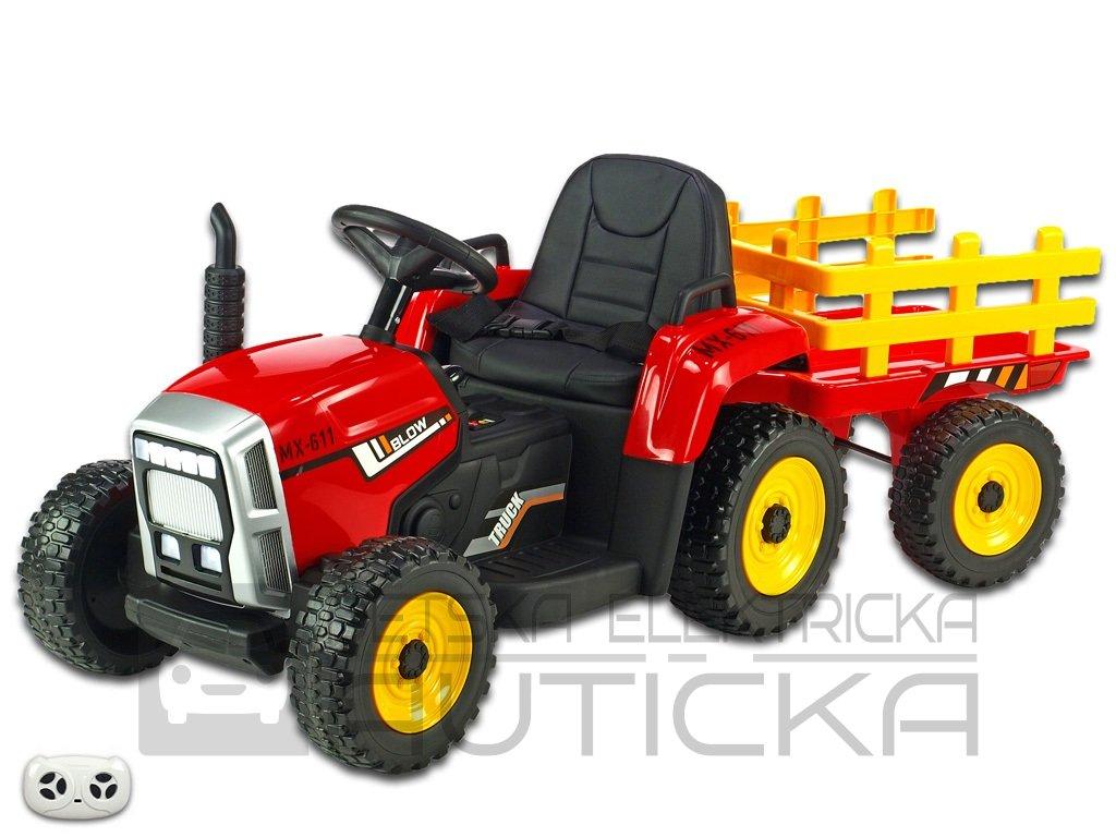 Rozkošný traktor červ 1