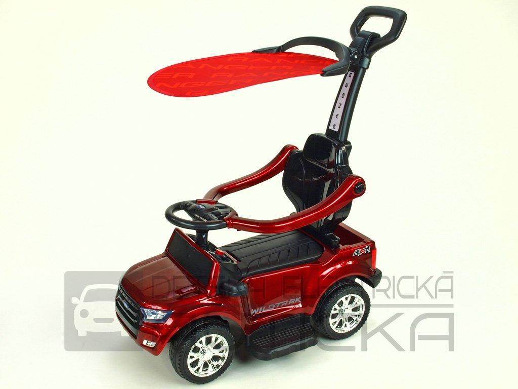 521 41 elektricke auticko ford ranger pro nejmensi 6v s vodici tyci striskou madly 2 operky mp3 tf card lakovana vinova metaliza