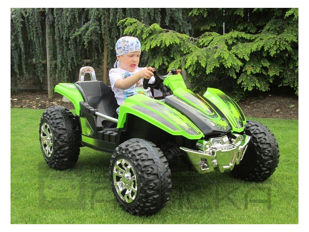 839 11 elektricke auticko elektricka dvoumistna bugyna 3 rychlosti 2 motory 12v zelena