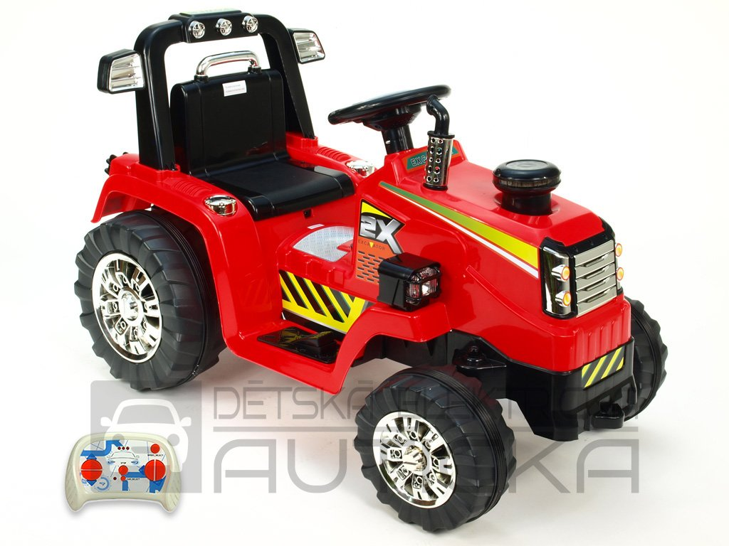 896 23 detsky elektricky traktor 12v s 2 4g dalkovym ovladanim cerveny