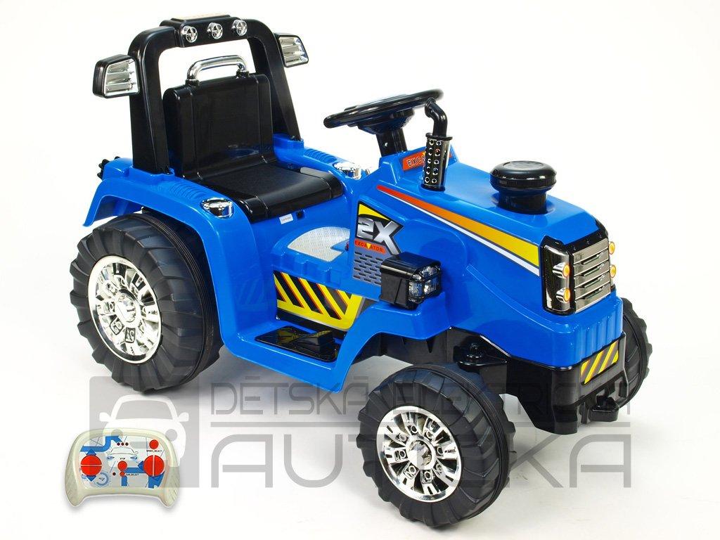 899 30 detsky elektricky traktor 12v s 2 4g dalkovym ovladanim modry