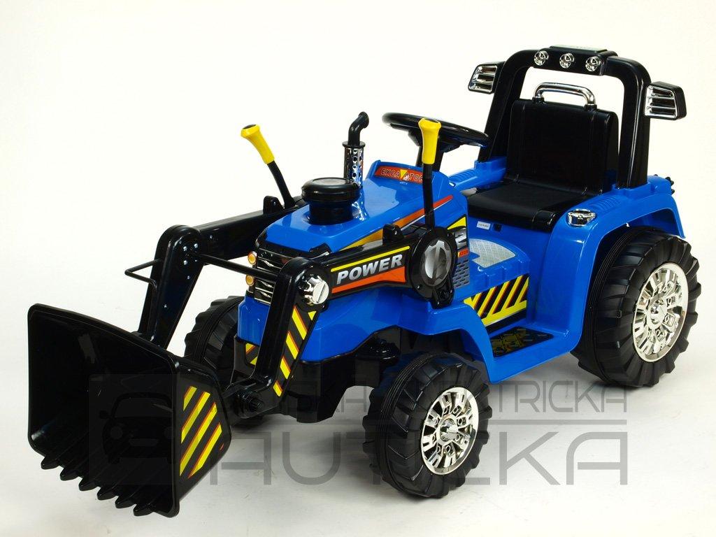 917 23 detsky elektricky traktor s ovladatelnou lzici 12v modry