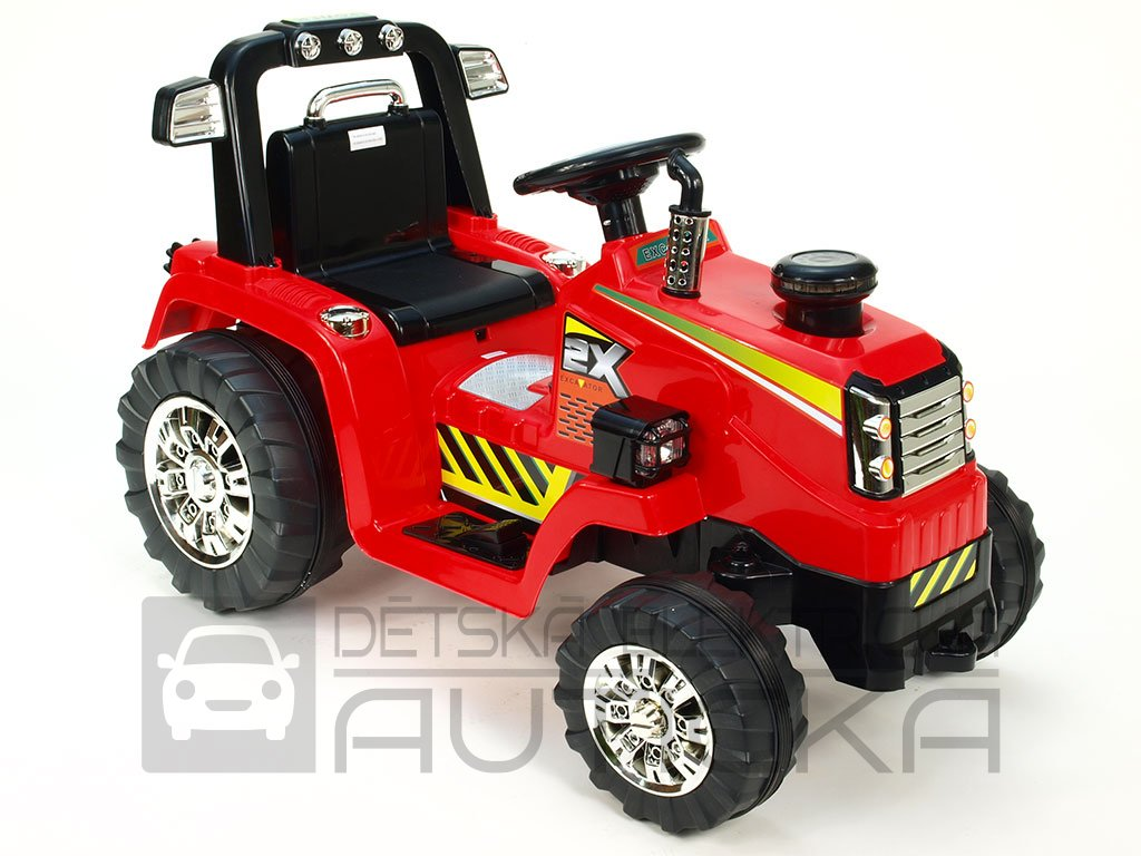 932 23 detsky elektricky traktor 12v cerveny