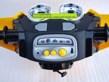 Elektrická čtyřkolka FD Sport na velikých kolech, 4 rychlosti, zvukové efekty, 2xmotor, 12V, modrá