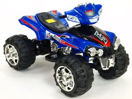 1110 21 elektricka ctyrkolka fd sport na velikych kolech 4 rychlosti zvukove efekty 2xmotor 12v modra