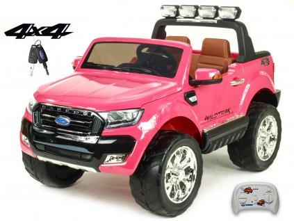 118 23 elektricke auticko ford ranger wildtrak 4x4 lux s 2 4g fm usb ruzova barva