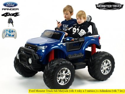 1209 ford ranger monster truck 4x4 do terenu dvoumistny modra metaliza