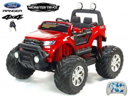 Ford Ranger Monster Truck 4x4 do terénu dvoumístný - červená metalíza