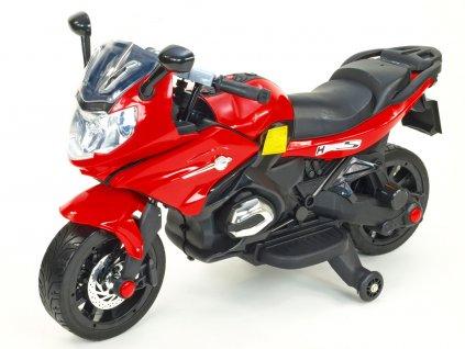 254 16 elektricka motorka pro zacinajici 12v 2x motor mekcena kola cervena barva