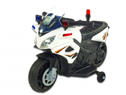 Moto mini Polic 911 bílá 1