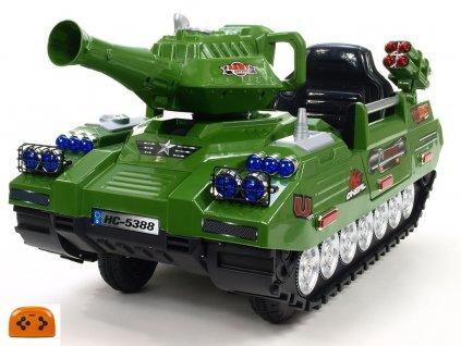 911 49 elektricky tank army hero action s 2 4g do funkcnim delem a cz vlajkou