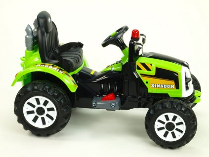 914 16 elektricky traktor kingdom s mohutnymi koly a konstrukci zeleny