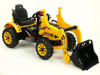 926 17 detsky elektricky traktor kingdom s ovladatelnou nakladaci lzici 12v zluty