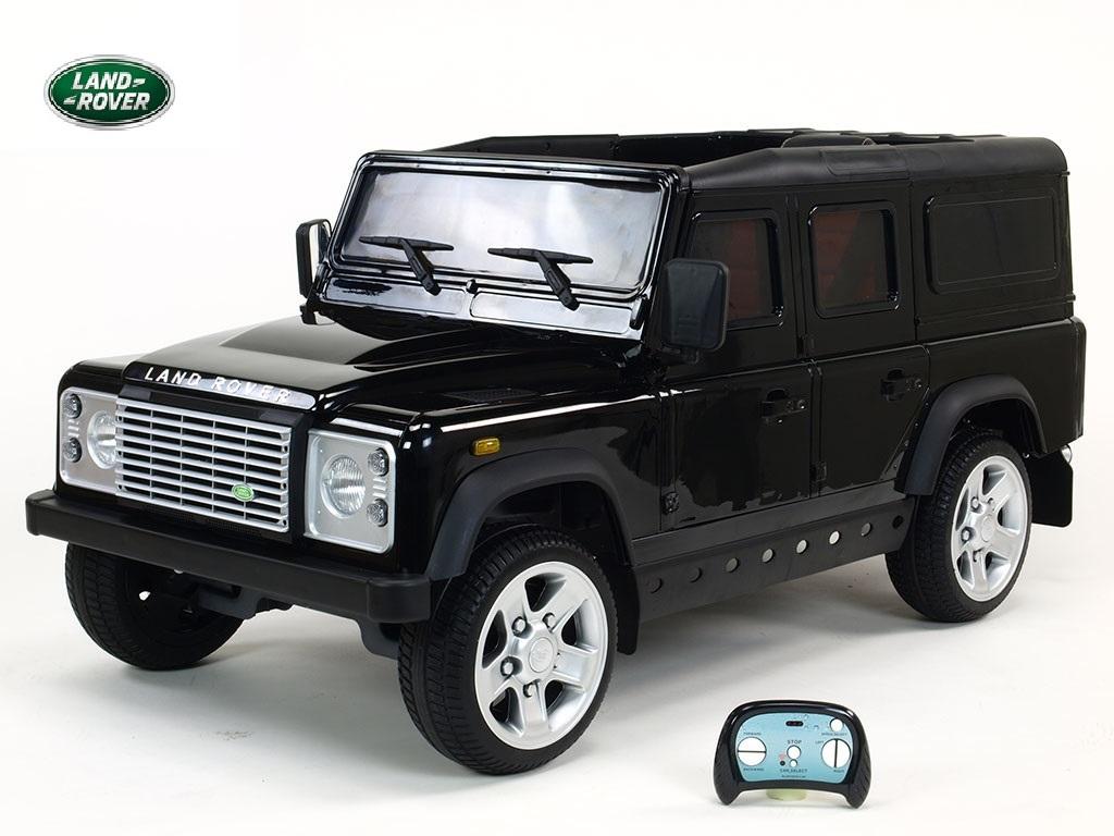 DEA elektrické autíčko Land Rover Defender černá matalíza