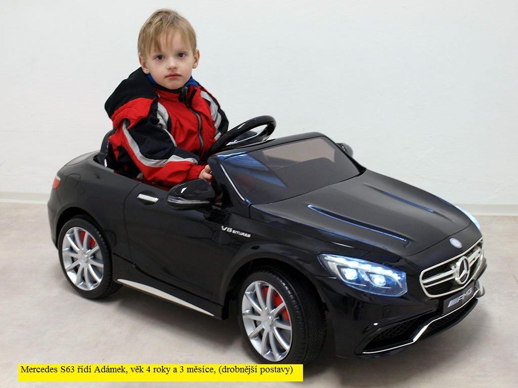 Toys elektrické autíčko Mercedes - Benz S63 AMG, s 2.4G dálkovým ovládáním jahodová barva