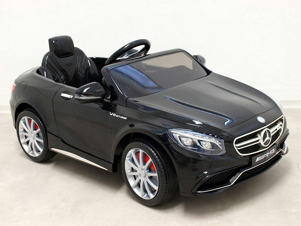 Toys Elektrické autíčko Mercedes - Benz S63 AMG, s 2.4G DO, pérováním obou náprav, černá metalíza