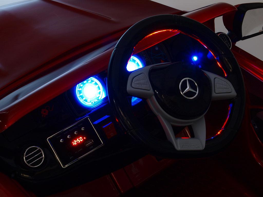 Toys elektrické autíčko Mercedes - Benz S63 AMG, s 2.4G DO, pérováním obou náprav, bílá barva