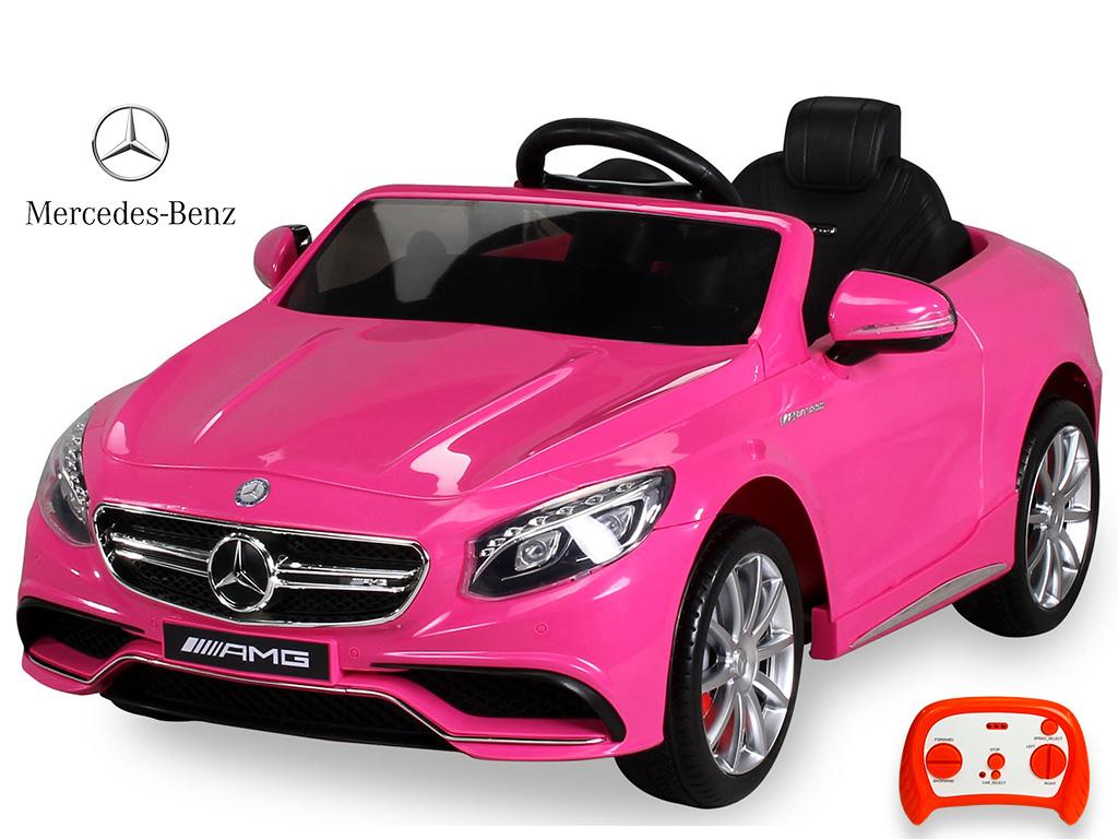 DEA elektrické autíčko Mercedes - Benz S63 AMG růžový lak