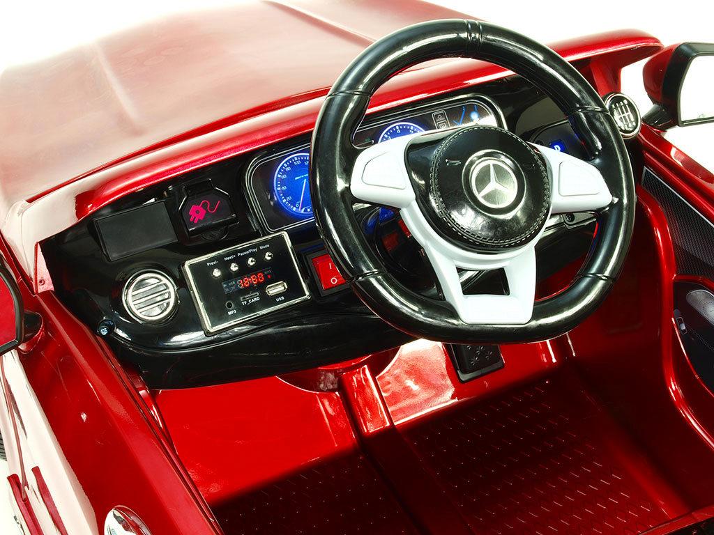 Toys elektrické autíčko Mercedes - Benz S63 AMG, s 2.4G DO, pérováním obou náprav, růžový lak