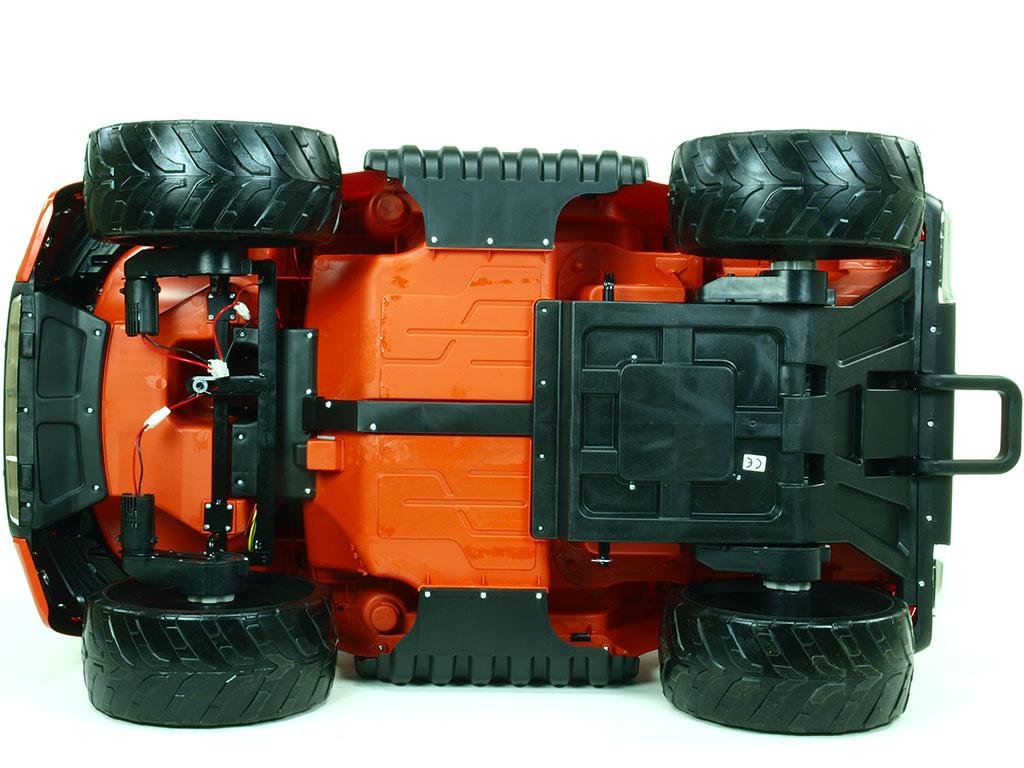 Toys elektrické autíčko Ford Ranger Wildtrak 4x4 LUX s 2,4G, FM, USB, oranžová barva