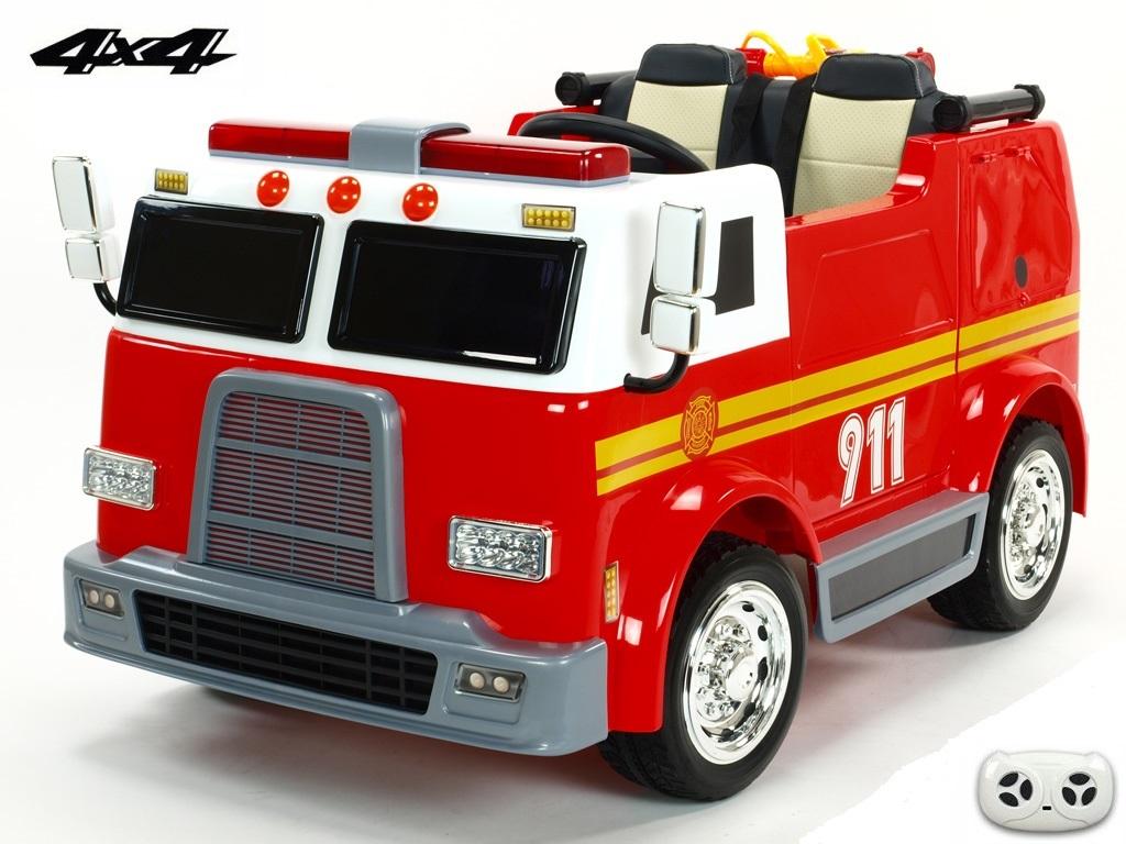 DEA elektrické autíčko dvoumístný USA hasičsky bus 4x4