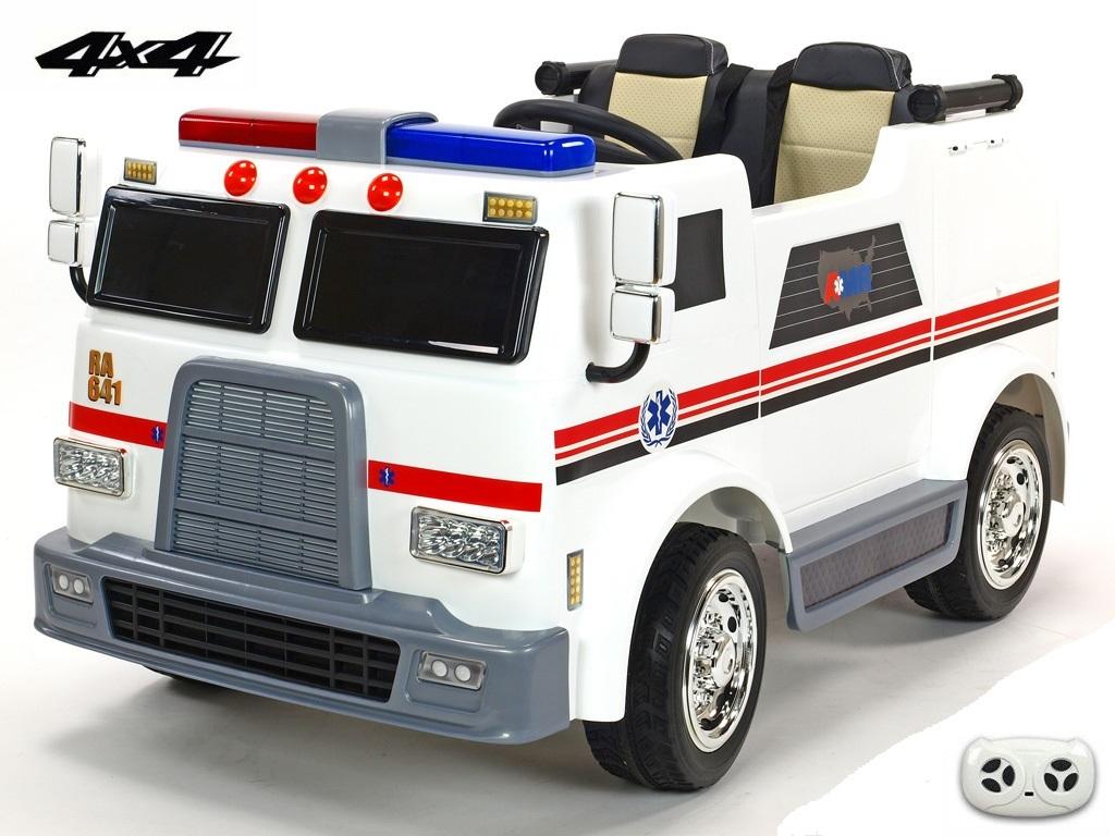 DEA elektrické autíčko dvoumístný USA sanitka - bus 4x4