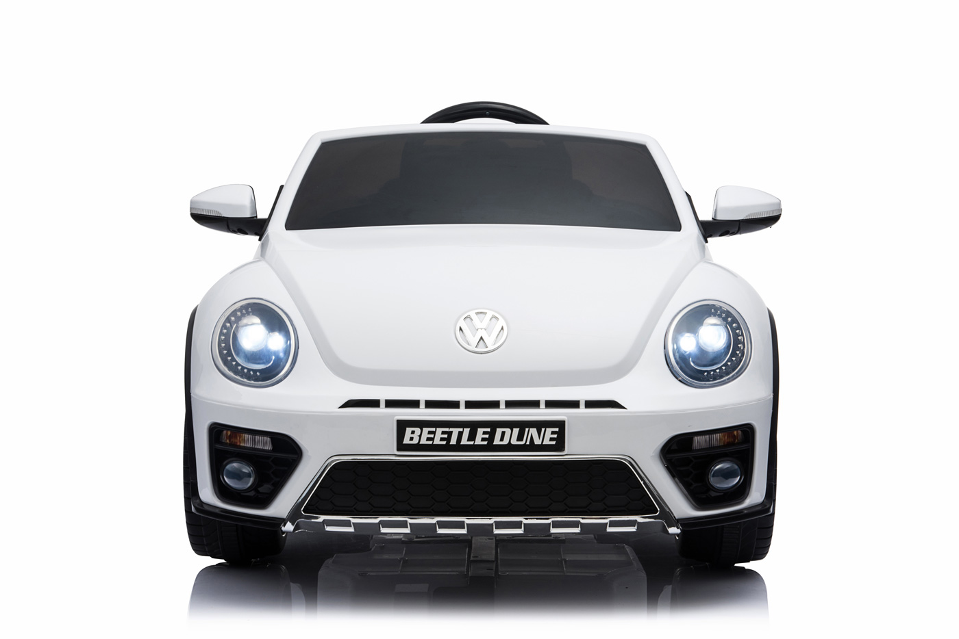 DEA elektrické autíčko VW Beetle Dune cabrio bílá metalíza