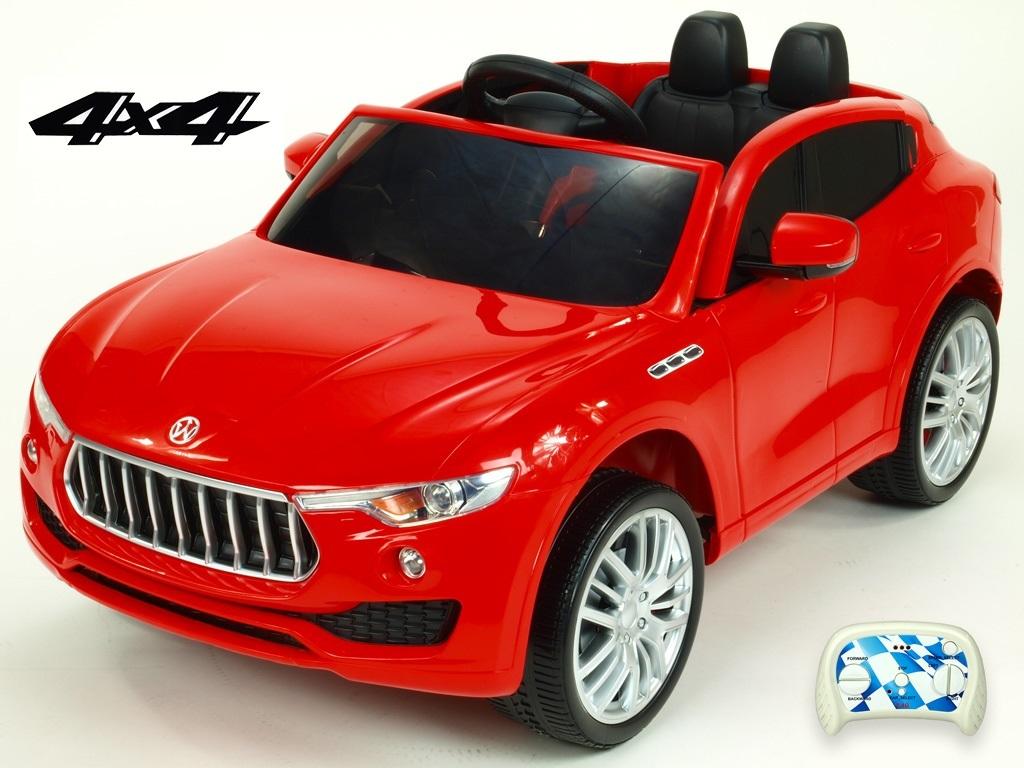 DEA elektrické autíčko Maserati Speed 4x4 červená metalíza