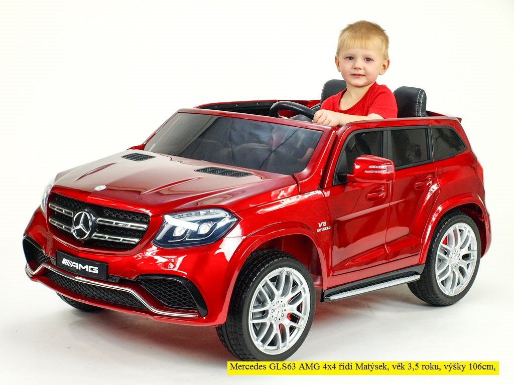Toys elektrické autíčko dvoumístné Mercedes GLS63 4x4 bílé barvy