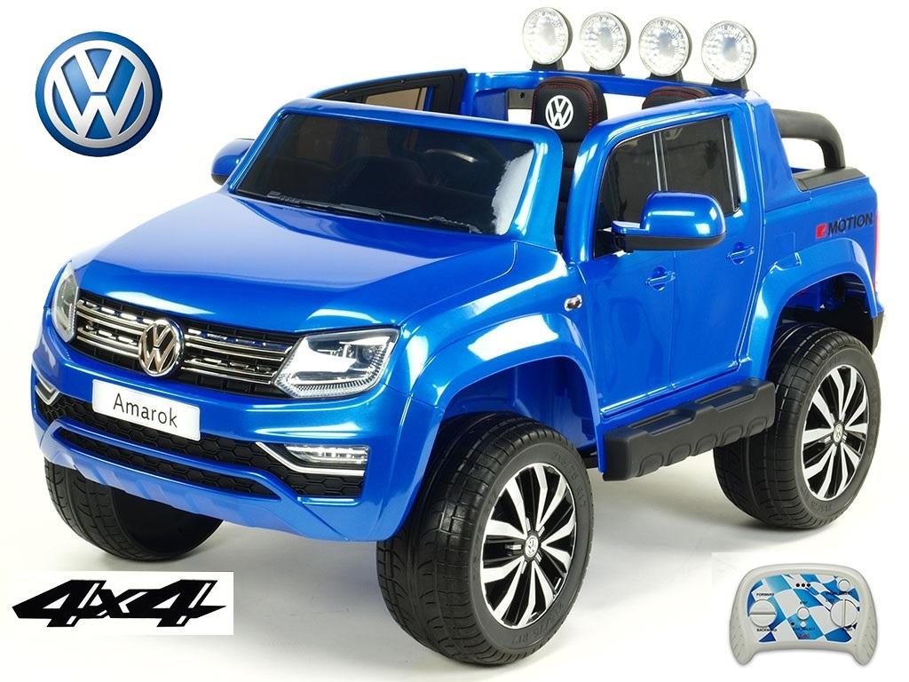 DEA elektrické autíčko dvoumístný Volkswagen Amarok 4x4 modrá metalíza