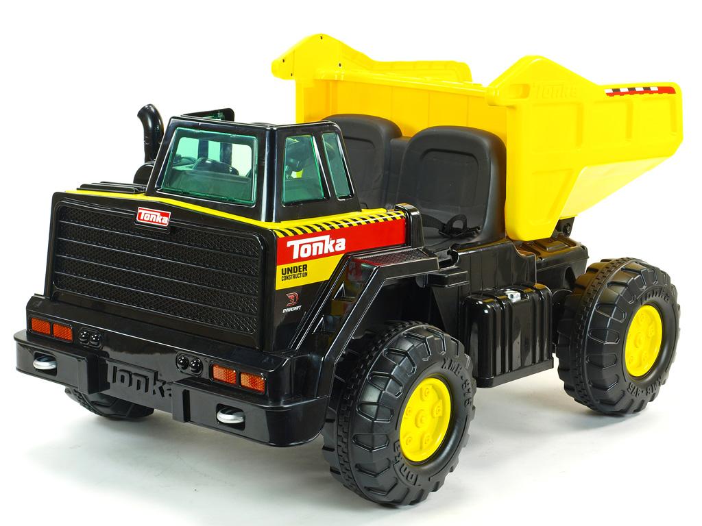 Tonka elektrické autíčko velký dvoumístný nákladní Dumper Tonka s vyklápěcí korbou