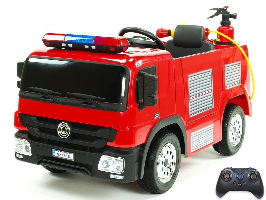 DEA Dětské elektrické autíčko hasiči s požární výbavou