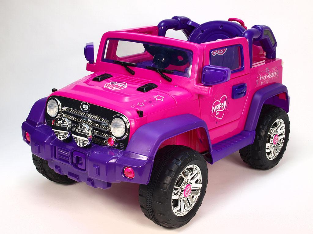 DEA elektrické autíčko džíp Happy růžovofialová