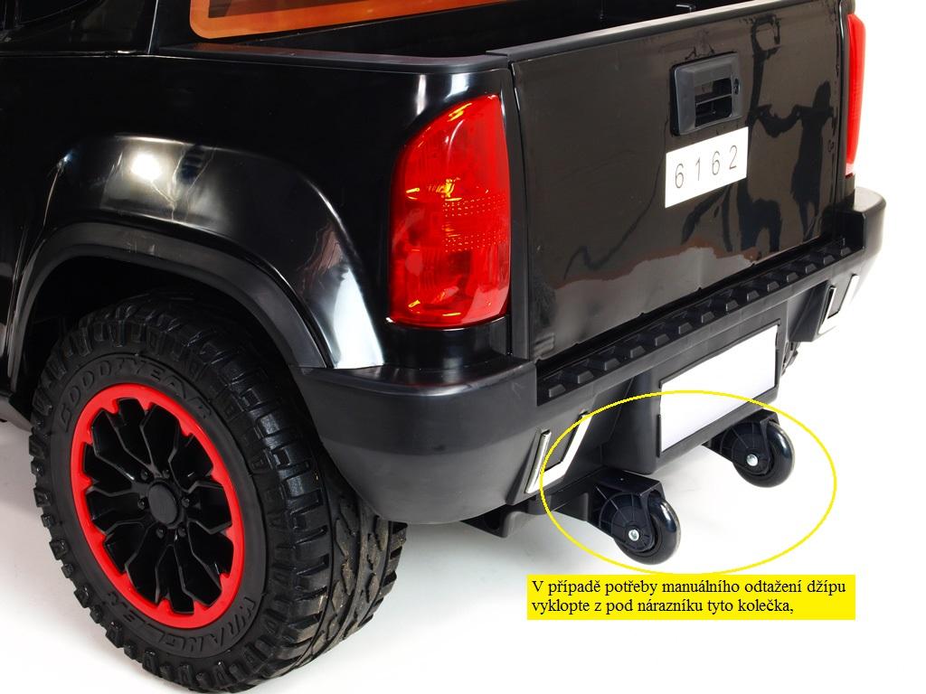 Toys elektrické autíčko džíp Chevy s 2.4G DO, 6 rychlostí, EVA koly, otvíracími dveřmi, přehrávačem TF, USB, Mp3, čalouněnou sedačkou, lakovaný bílý