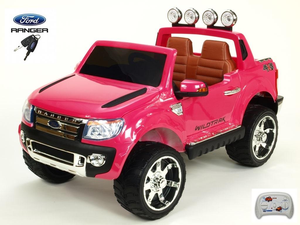 DEA elektrické autíčko Ford Ranger Wildtrak Lux lakovaný růžový