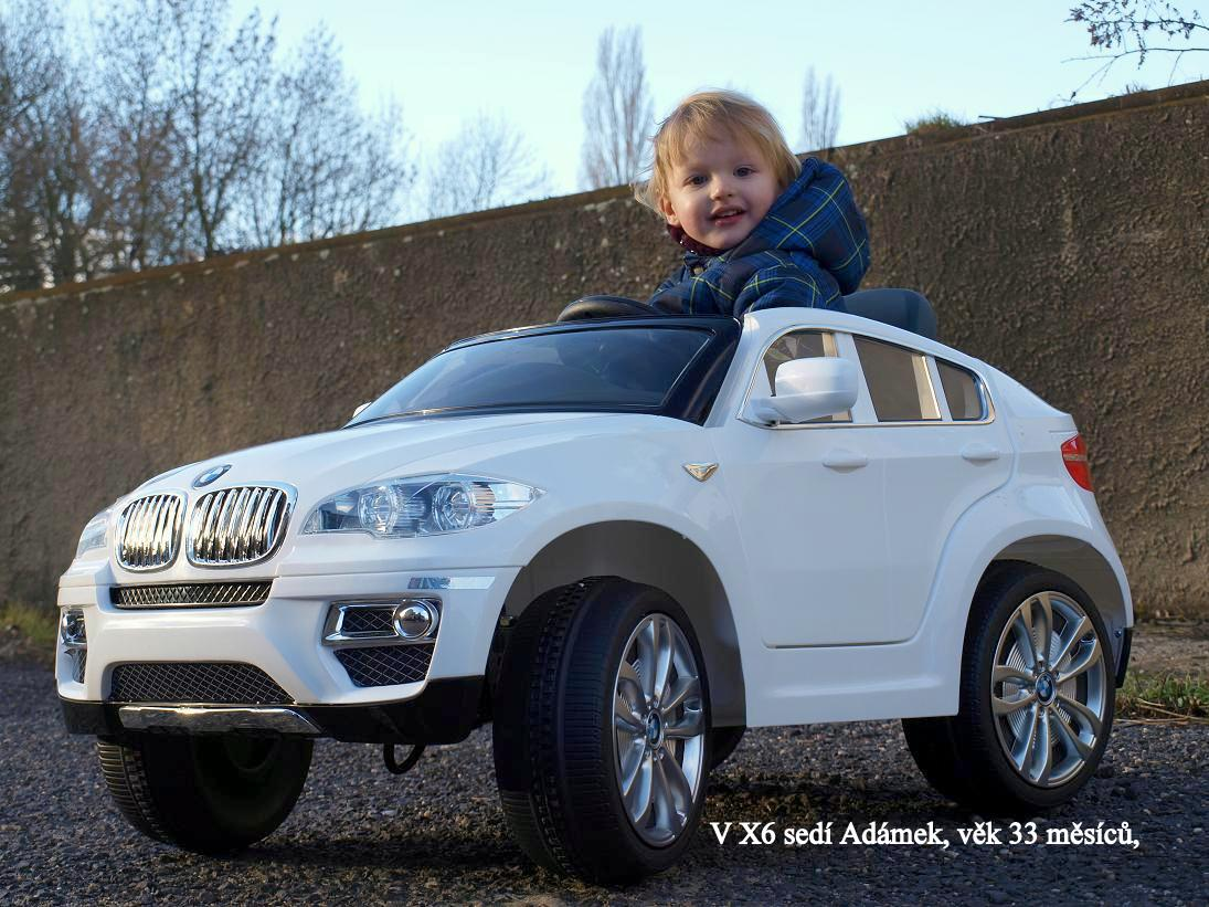 Toys elektrické autíčko BMW X6, modrá metalíza, xenony