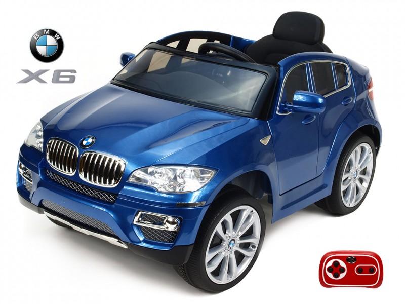 DEA elektrické autíčko BMW X6 modrá metalíza