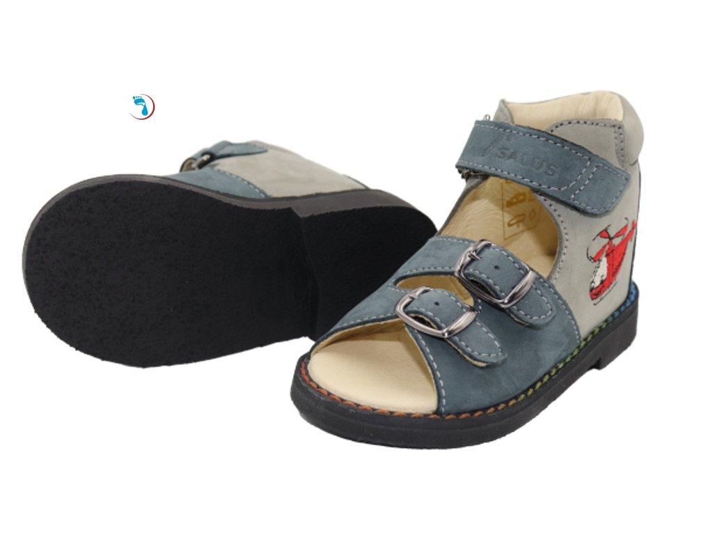 40.Salus Dětské sandály supinační, pro úzkou nohu