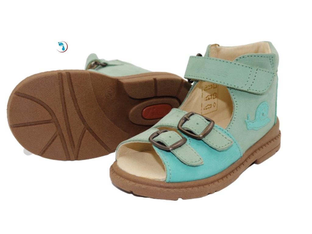 40.Salus Dětské sandály supinační pro úzkou nohu
