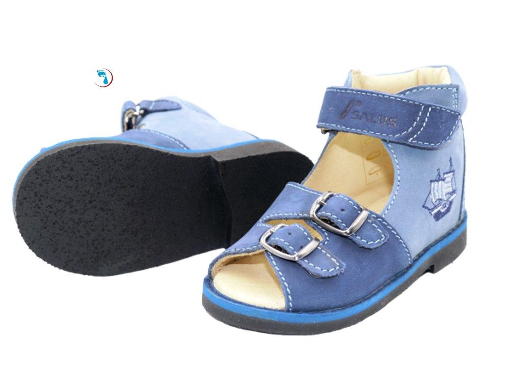 40.Salus, Dětské sandály supinační, pro úzkou nohu