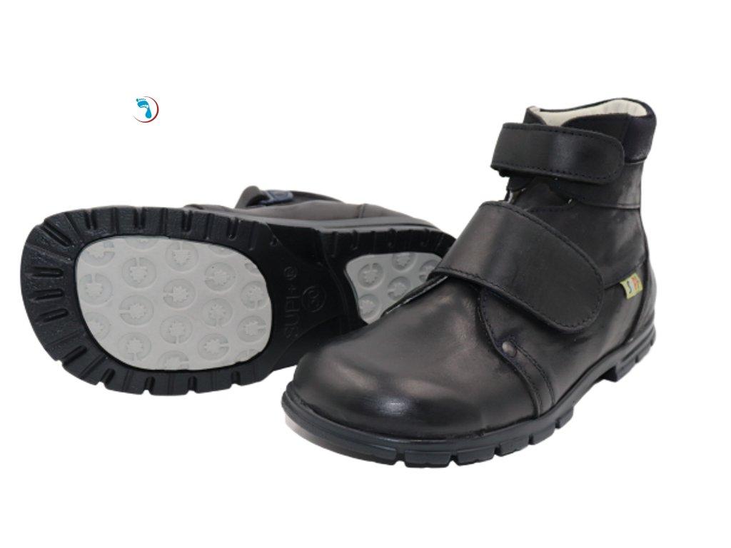Dětská obuv supinační, vyšší patní modul
