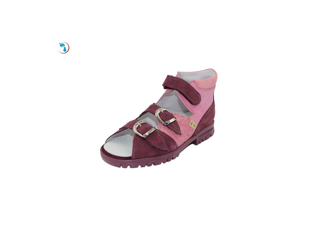 Dětské sandály supinační BOKOR - vyšší patní modul